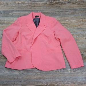 Worthington Amanda Coral Open Front Blazer Jacket